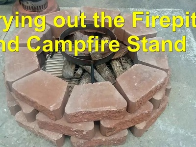 Plow Disc Cooker on a Campfire Stand and DIY Firepit