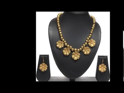 Terracotta designs|terracotta jewelery designs|designs for terracotta|latest terracotta designs