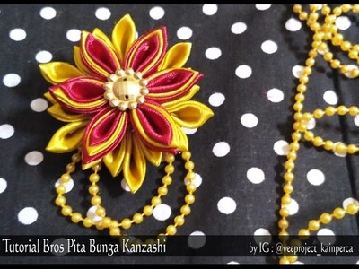 Tutorial DIY SIMPLE : Bros Bunga Pita Flower Kanzashi