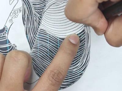 #12 - How to - Papercut - Papercutting - Papercraft - Paper - Art  - Handmade - Parth Kothekar