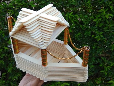 A BOAT HOUSE from popsicle sticks - How to make