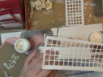 A how to tutorial - shabby chic canvas project for CreaLies