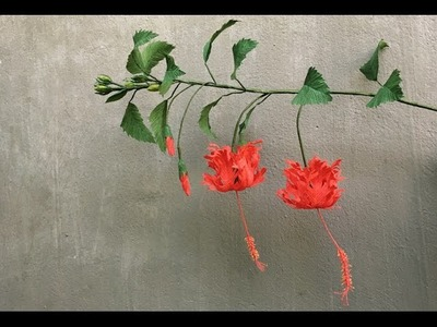 ABC TV | How To Make Hibiscus Schizopetalus Paper Flowers From Crepe Paper - Craft Tutorial