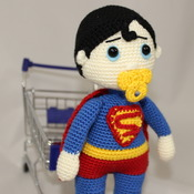 Amigurumi Super Baby PDF Pattern / Super Hero - Beginner