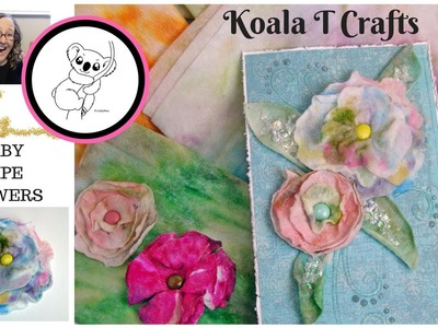 BABY WIPE FLOWERS How to turn used baby wipes into usable embellishments for your projects!