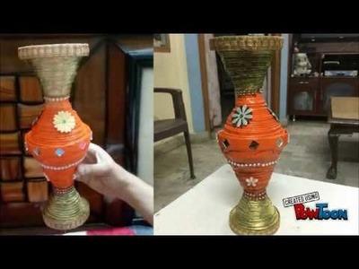 Beautiful Handmade Newspaper Flower Pot | Best Out of Waste | How to Make Flower Pot