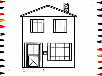 Big House Coloring Pages l How To Draw Big House Coloring Book l Drawing Pages l Learn Colors