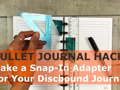 Bullet Journal Hack: How To Make Snap In Adapters for Disc Bound Journals