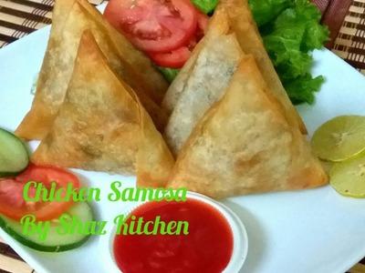 Chicken Samosa_Ramadan Special Recipe(In Urdu.Hindi)How To Make Samosa_Manda Patti,Filling & Folding