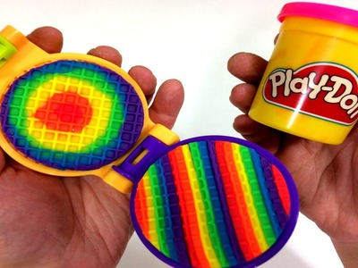 DIY Creative How To Make Rainbow Waffle Pancake Finger Family Song