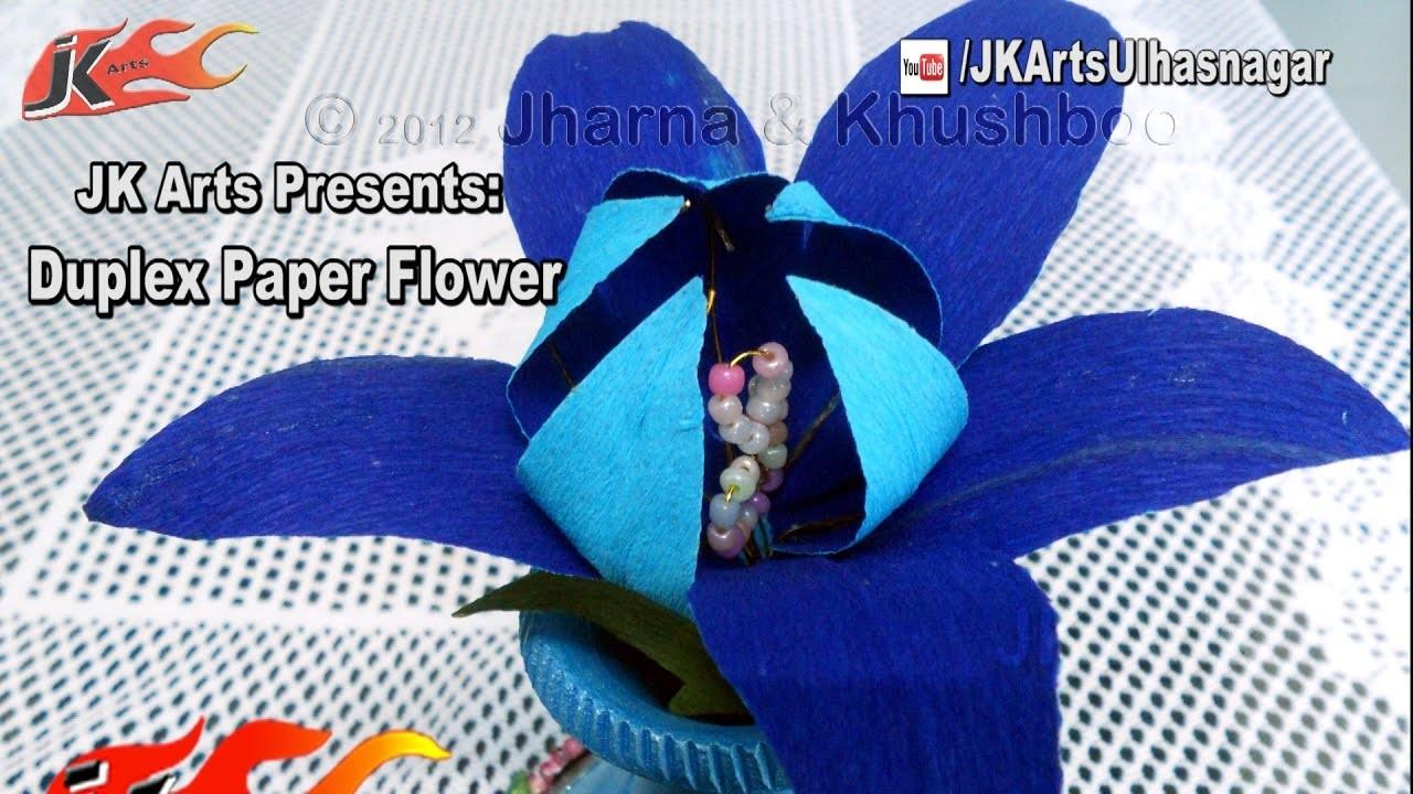 DIY How to make Duplex Paper Flower (Reuploaded) | JK Arts 1217
