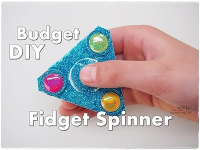 DIY How to Make Glitter Fidget Spinner on the Budget ♡ Maremi's Small Art ♡