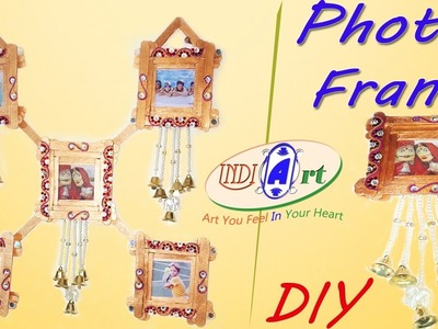 DIY : how to make multipal  photo frame at home whit  Popsicle  sticks | INDI ART | #15