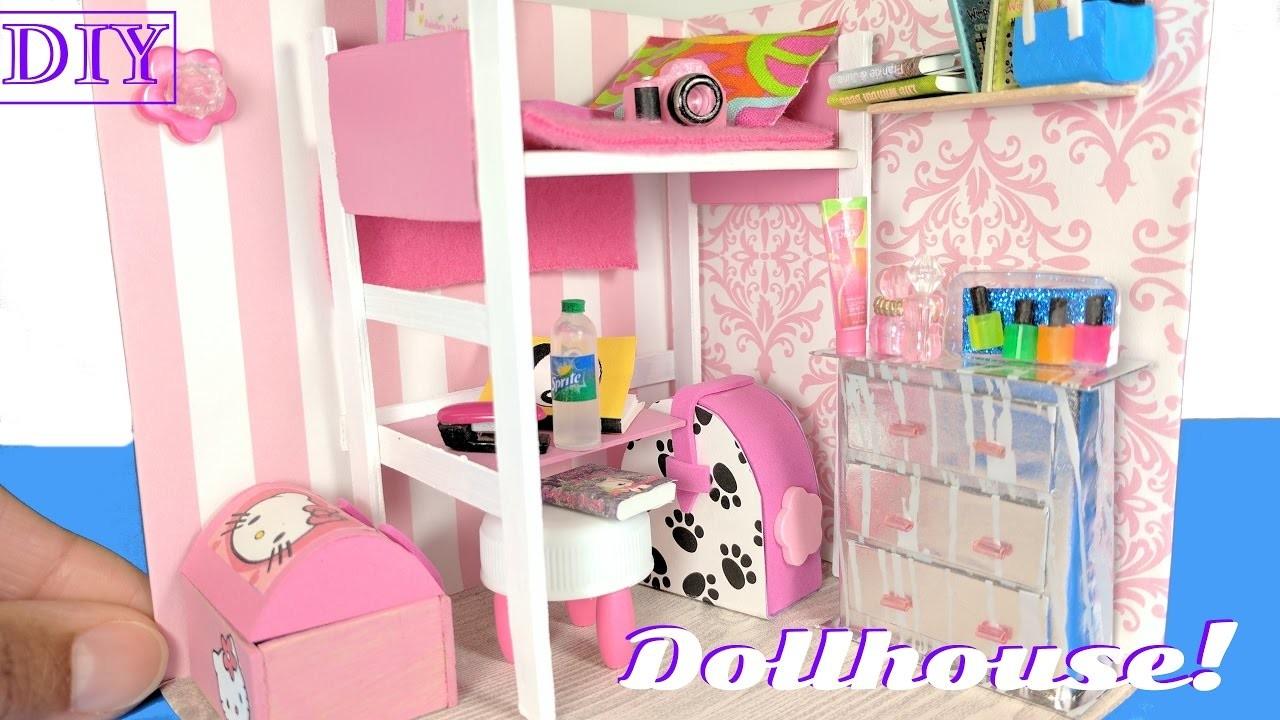 DIY Miniature Dollhouse Room for a Girl - Not a Kit - DIY