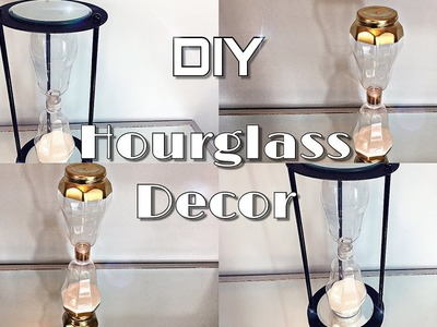Dollar Tree DIY - How To Make An Hourglass Decor - DIY Hourglass