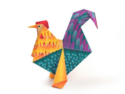 Easter Origami Rooster - Tutorial DecOrigami - How to make an easy  origami rooster