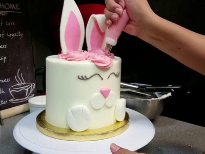 Easter rabbit cake video - how to