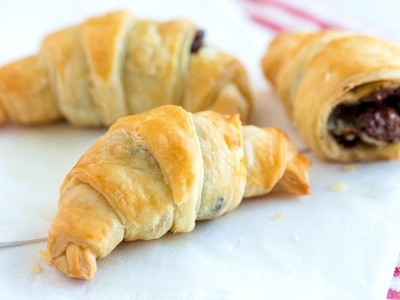 Easy, 30 Minute Chocolate Croissants Recipe - How to Make Croissants with Store-bought Puff Pastry