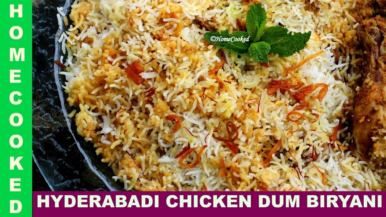 [ENG]Hyderabadi Chicken Dum-Biryani | Step by Step | Quick and Easy Way to Cook |