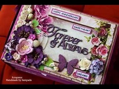 Forever & Always Handmade Anniversary Scrapbook | Mini Album | Love.Anniversary.wedding Gift ideas