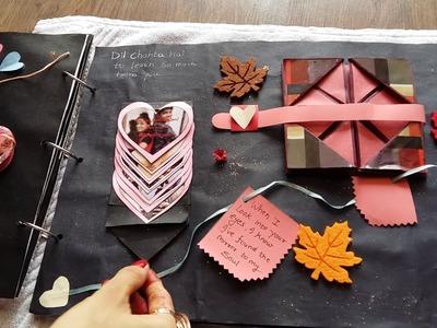 Handmade Anniversary scrapbook for hubby