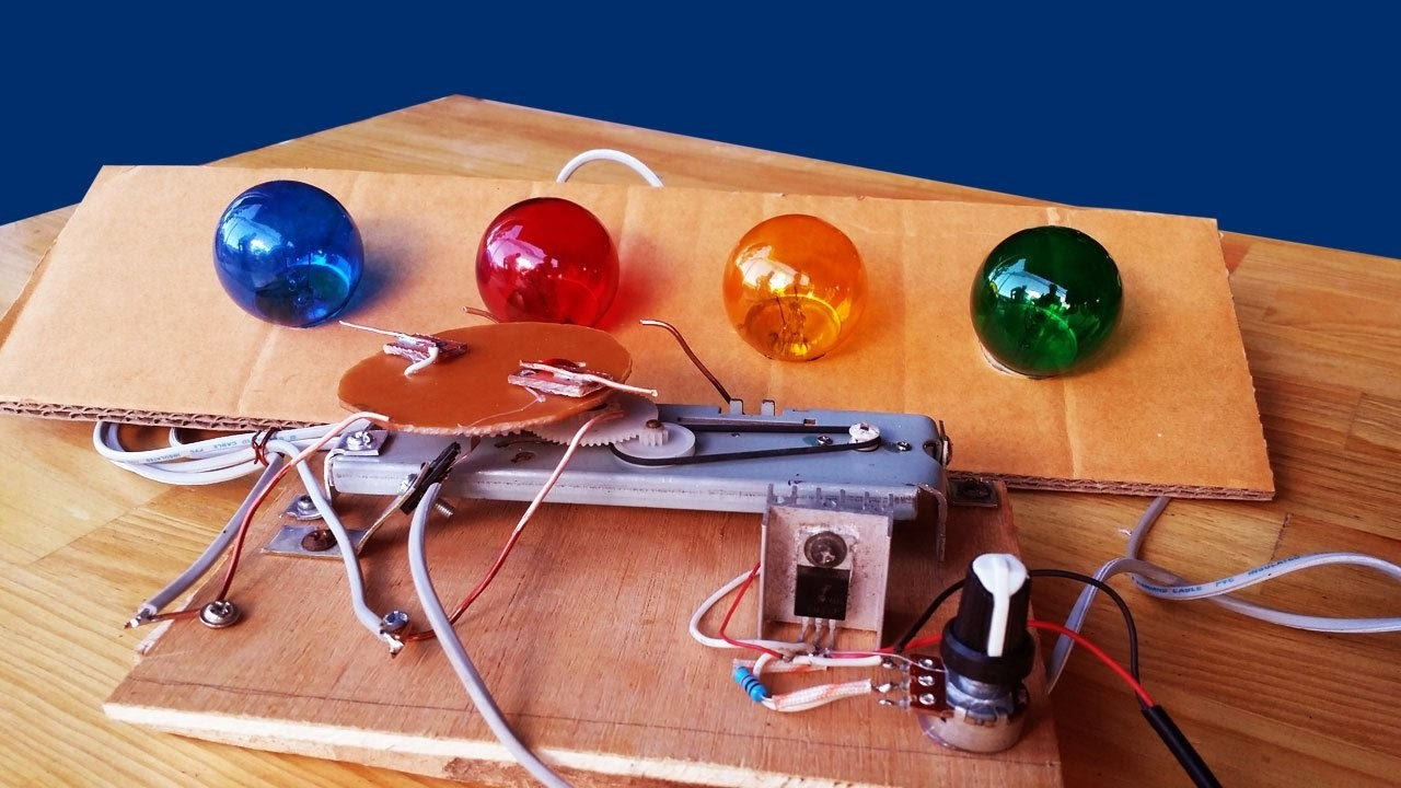 How make simple chill color bulbs circuit - my Traditional circuit