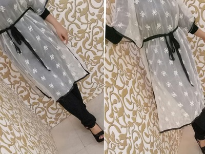 How To Convert Old Dupatta Into Kaftan  Recycle Of Old Dupatta  