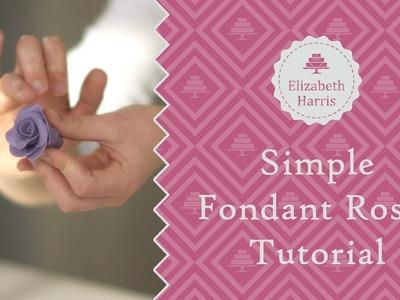 How to Create Simple Fondant Roses | Cake Decorating Tutorial
