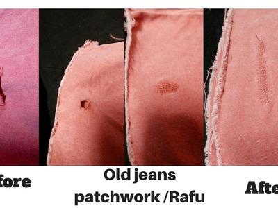 How to do rafu | जीन्स को रफू करना