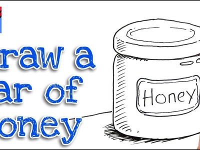 How to draw a Jar of Honey Real Easy Step by Step