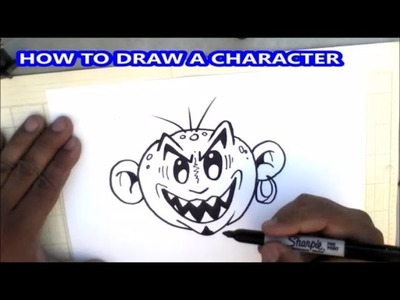 How to draw face of a graffiti character -  Tutorial