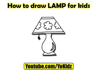 How to draw LAMP for kids