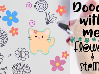 How to Draw Spring Flowers and Stems | Doodle With Me & Free Printable