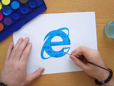 How to draw the Internet Explorer logo (Logo drawing)