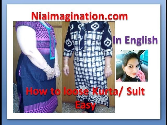 How to increase width of kurta | loose suit | If no enough cloth with all suggestions | in English