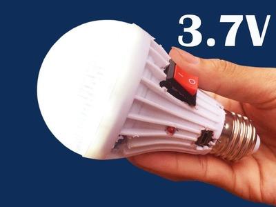 How to make 3.7V DC for LED Light Bulbs using phone battey - Convert from 12V to 3.7V