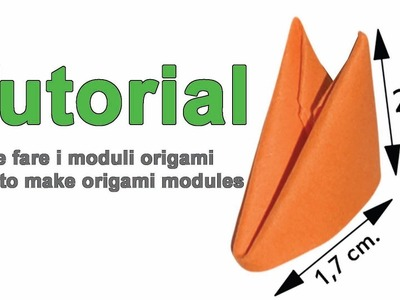 How To Make 3d Origami Modules 1.32 Come Fare i Moduli 3d Origami 1.32