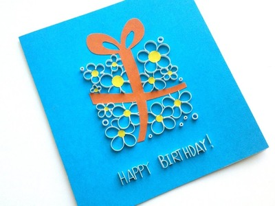 How to make a beautiful Greeting card - Birthday Card Idea