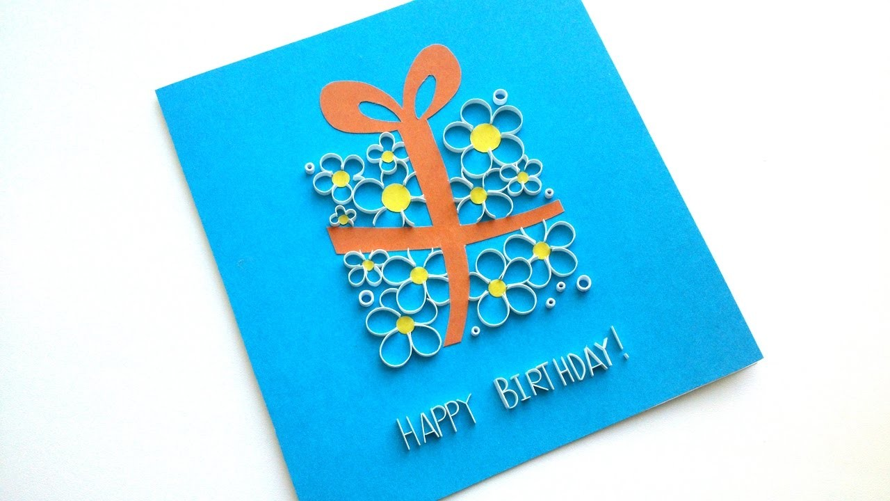 How to make a beautiful greeting card birthday card idea m4hsunfo