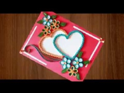 ⏭How To Make a Beautiful heart shaped ????valentine's day greeting cards   YouTube