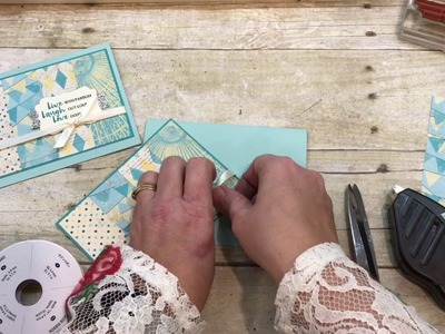 How to make a Beautiful You Card using Cupcakes and Carousels DSP from Stampin Up