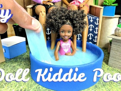 How to Make a Doll Kiddie Pool with Slime or Water - Dollhouse DIY