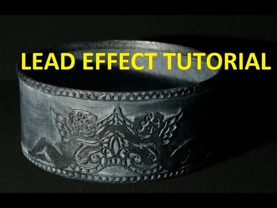 How To Make A Fake Aged Lead.Pewter Effect