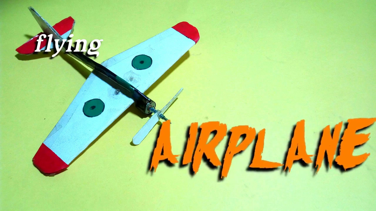 How to make a flying airplane.a flying toy (indoor)