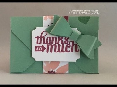 How to make a gift card envelope