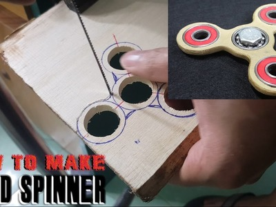 How To Make a HAND SPINNER, FIDGET TOY at home