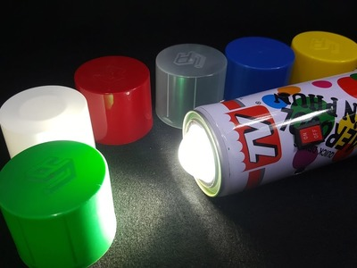 How to make a LED Flashlight using Spray Paint Can
