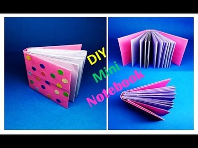 How to Make a Mini Notebook With One Sheet of Paper || Pocket Notebook || Craft for Kids