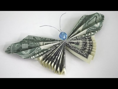 How to Make a Money Butterfly - Origami Dollar Bill