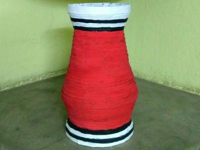 How to make a newspaper flower vase